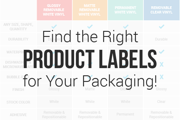 Find the right product labels for your packaging! Affordable, durable, and totally customizable with StickerYou.