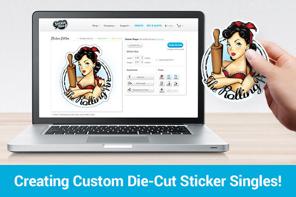 NEW - Create Custom Die-Cut Sticker Singles!
