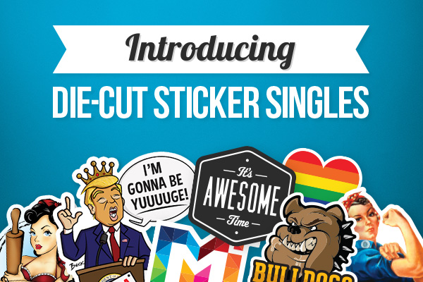 Introducing Die-Cut Sticker Singles
