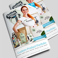Get a Free Catalog and Product Samples from StickerYou