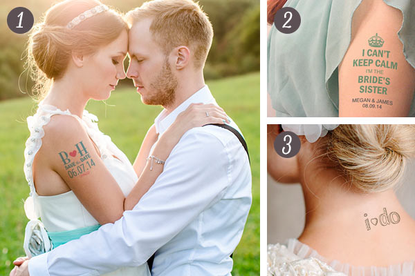 Custom Temporary Tattoos for your Wedding