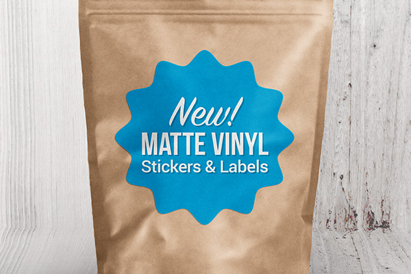 Matte Vinyl Stickers and Labels