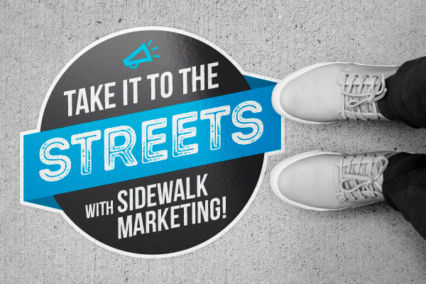 Sidewalk Marketing with Street Decals