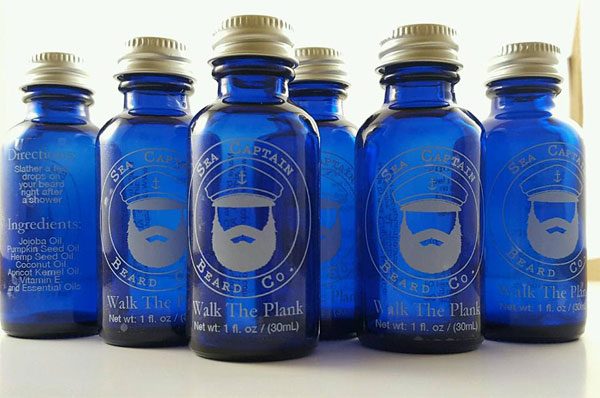 StickerYou Clear Labels Sea Captain Beard Oil