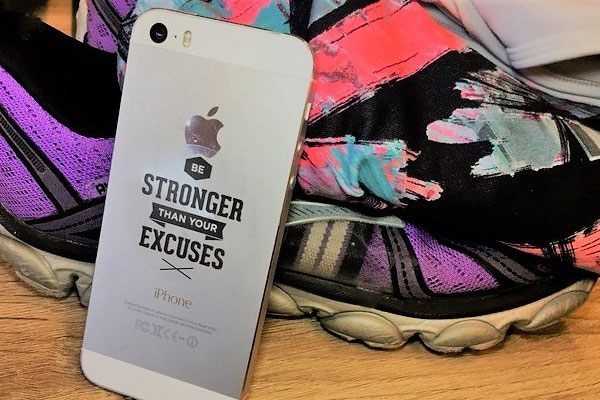 Be Stronger Than Your Excuses mantra sticker