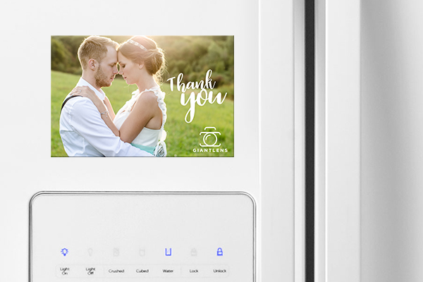 Wedding photo magnet