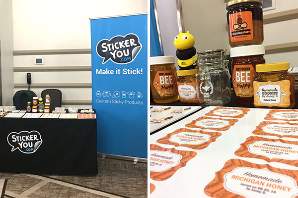 StickerYou Michigan Bee Keepers Association Convention booth