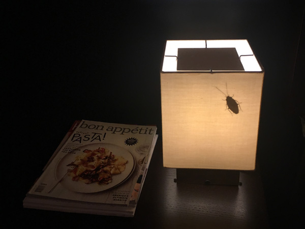 StickerYou Clear Bug Sticker Lamp Shade April Fools Prank