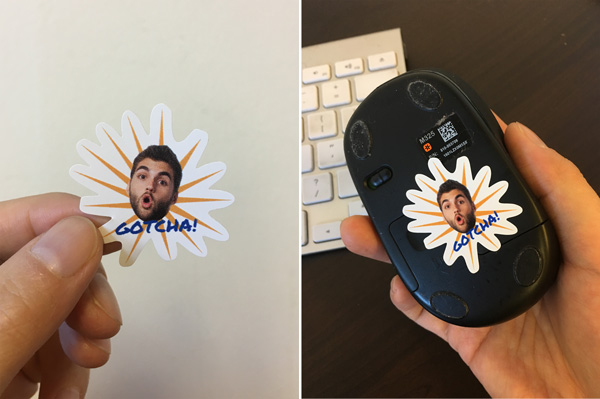 StickerYou Custom Mouse Sticker April Fools Prank