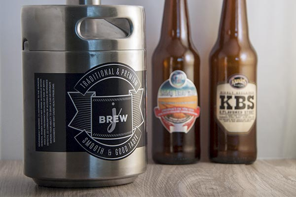Custom labels for mini-kegs and growlers