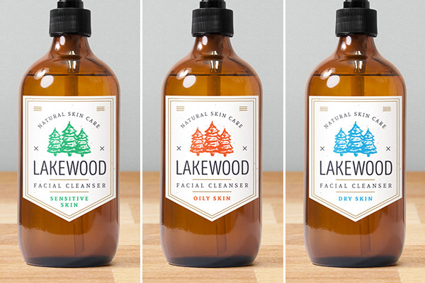 Custom labels with colors highlighting product type