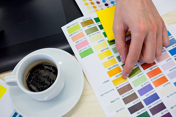 Selecting color from swatches