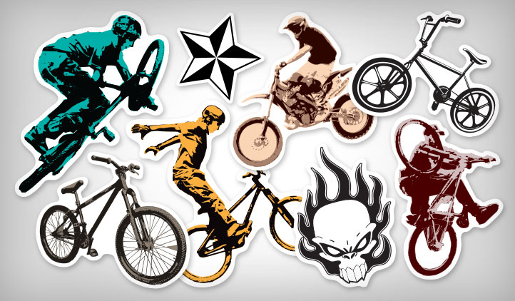 BMX Stickers | StickerYou Products : Custom Stickers For Bmx Bikes For Kids