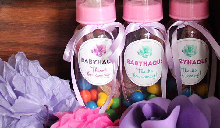 Baby Shower Party Favor Labels