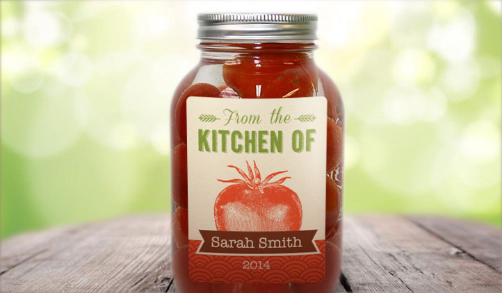 Food jar labels