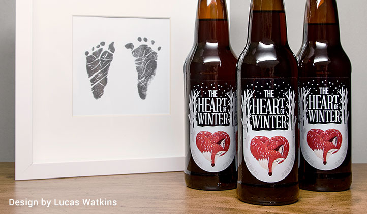 Custom clear beer bottle labels
