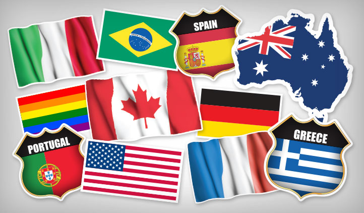 Flag Stickers Stickeryou Products