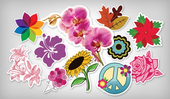 Flower Stickers Stickeryou Products