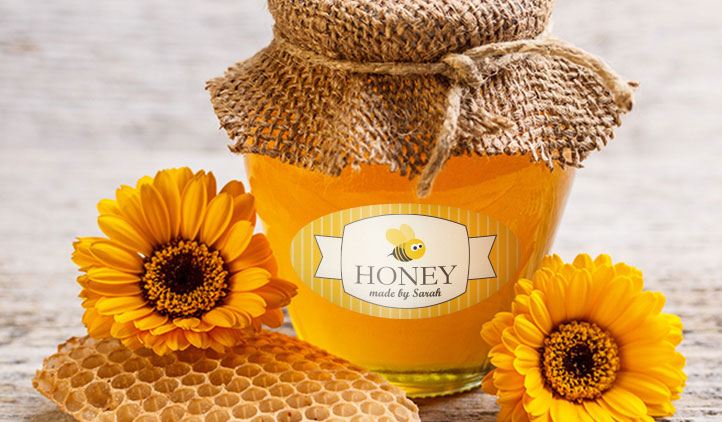 Custom Honey Labels and Jar Labels StickerYou Products - Create Your Own Wall Stickers