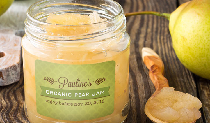 Pear Jam Jar Labels