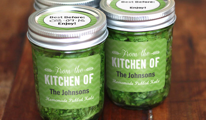 Kale Jar Labels