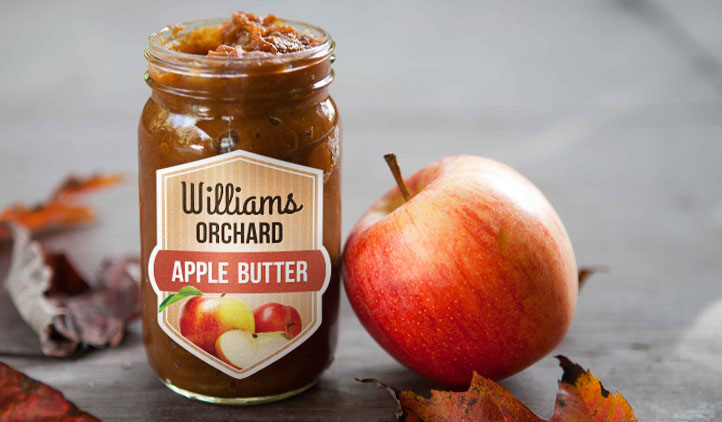 Apple Butter Jam Jar Labels