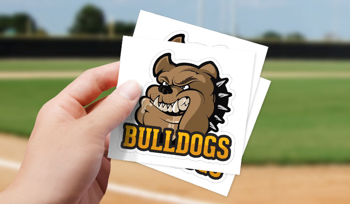 Custom vinyl logo stickers for sports teams
