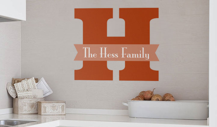 Family monogram wall decals