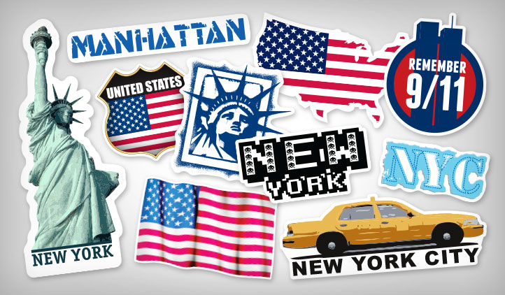 New york stickers stickeryou products - Stickers geant new york ...
