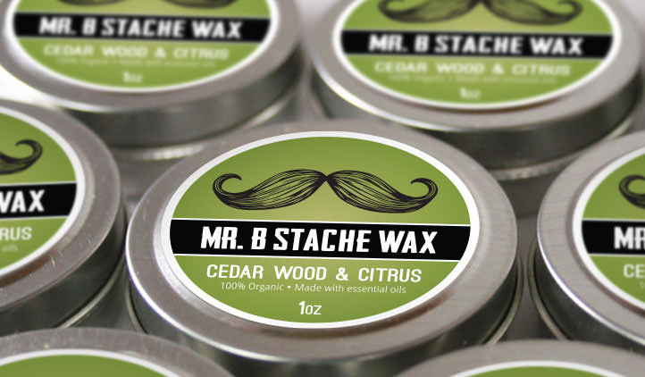 Moustache Wax Product Labels