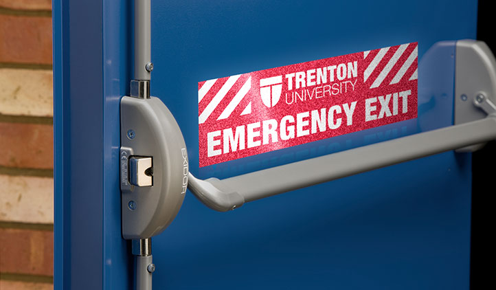 Reflective Emergency Exit Stickers