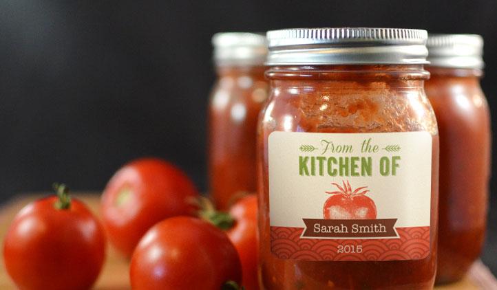 Tomato Sauce Labels