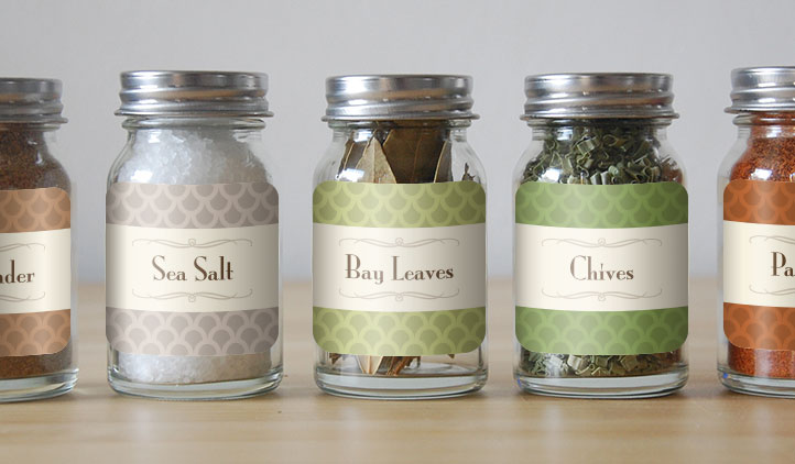 Square Labels, Spice Labels