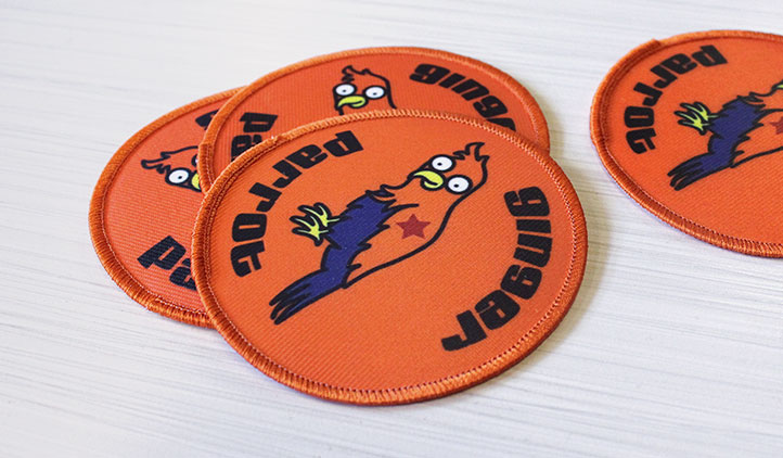 Nerdy image within printable patches