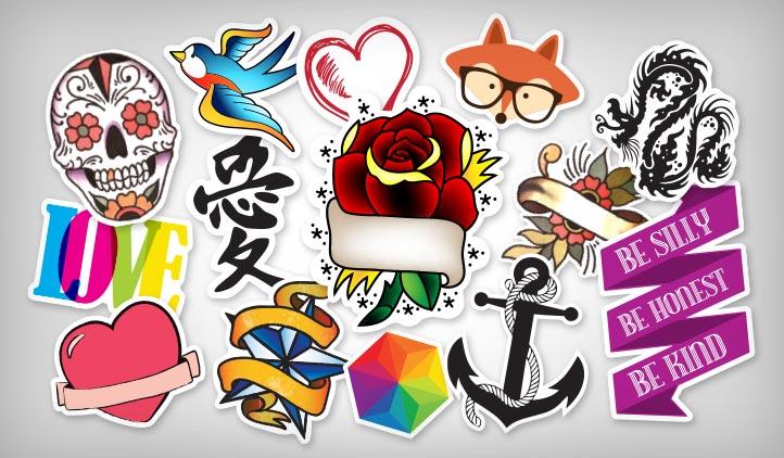 Tattoo art stickers stickeryou products for Custom tattoo stickers