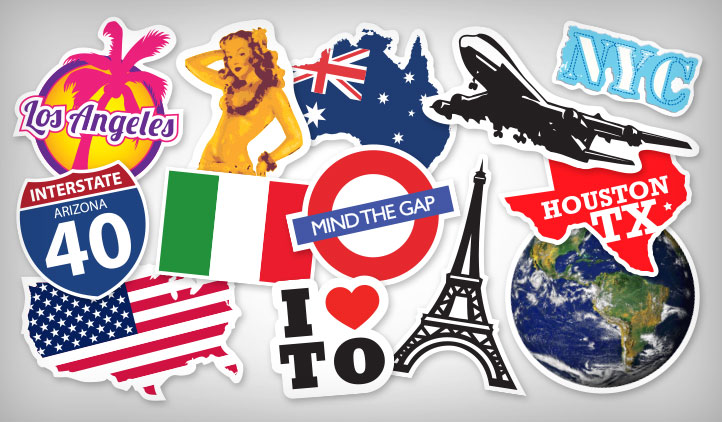 Travel Stickers Stickeryou Products Stickeryou