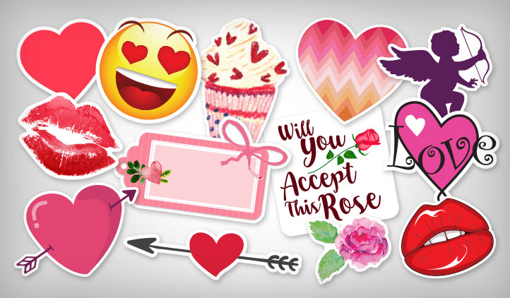Make Valentine S Day Stickers From Stickeryou Stickeryou