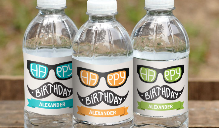 Water bottle labels award winning quality stickeryou for How to put labels on water bottles