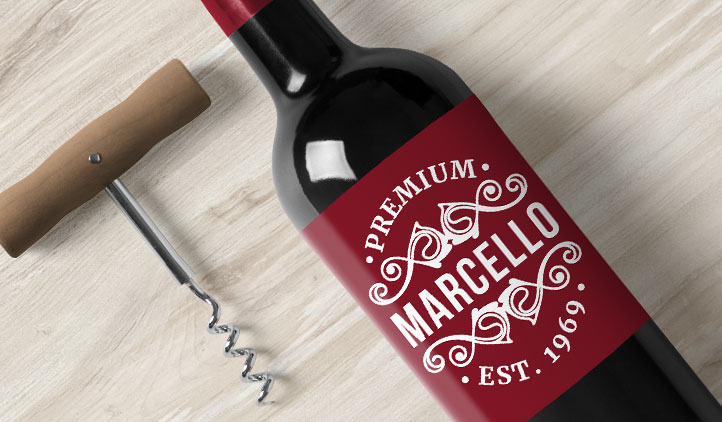 Wine Bottle Labels Award Winning Quality StickerYou - Custom vinyl stickers for wine glasses   for business