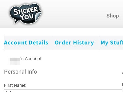 Your StickerYou Account