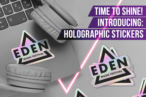 Time to Shine! Introducing: Holographic Stickers