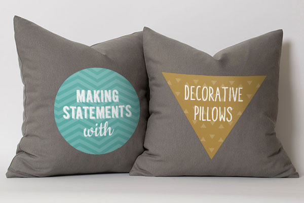 Making Statements with Decorative Pillows