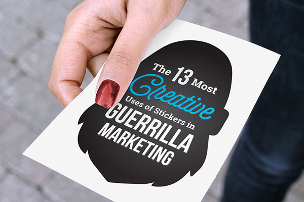 Guerrilla marketing sticker