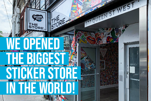 We Just Opened the Biggest Sticker Store in the World
