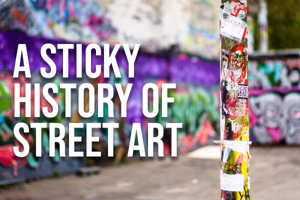 A sticky history of street art title icon