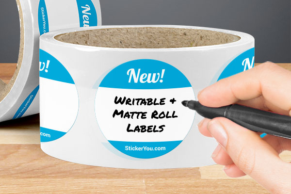 Writable Matte Roll Labels Lower Price High Quality
