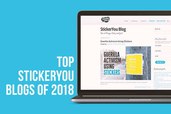 Yearly Recap: Top StickerYou Blogs in 2018