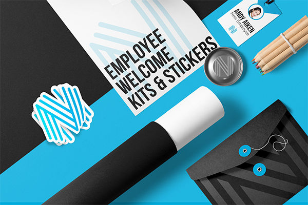 Employee Welcome Kits & Stickers