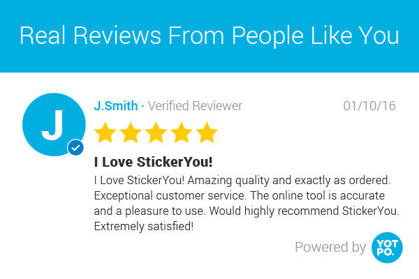 StickerYou customer product reviews