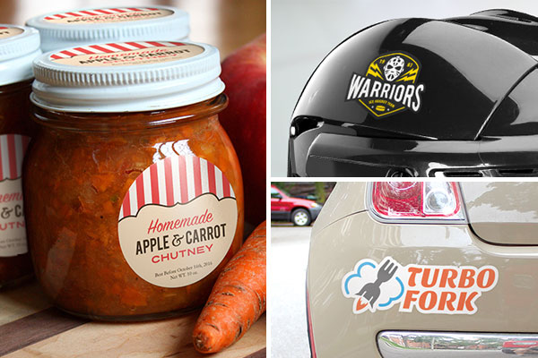 StickerYou's White Removable Vinyl Jar Labels, Helmet Stickers, Bumper Stickers